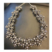 Necklace Chain Clavicle Neck Jewellery Crystal Wild Party Accessories Silver