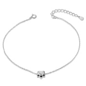Sweetiee 925 Sterling Silver Simple Design Anklet Chain Connected with Kitten,Daisy,Paw,Hexagram Jewellery Gift for Woman