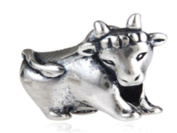 Taurus Bull Cow Women's Charm Bead suitable for Pandora Jewellery or similar 100% 925 Sterling Silver