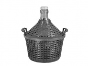 Home Glass and Plastic Demijohn with Basket, Beige, 15 lt