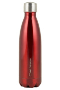Yoko Design 1334 Double Walled Stainless Steel Thermos Flask Red 25.5 x 6.5 x 6.5 cm