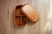 Ecloud Shop® Wooden Bento Box,Japanese Wooden Lunch Bento Wooden Box Wood Food Container