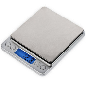 Ticent 3000g /0.1g Digital Pocket Kitchen Scales, Stainless Steel Jewellery and Kitchen food Scale, 0ml (0.1g) Resolution