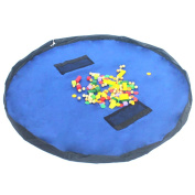 Westeng 1PC Children Play Mat Foldable baby Toy Organiser Storage Bag for Lego 150cm