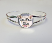 Personalised Your Westie Dog Photo Picture On A Silver Plated Bracelet Bangle Ideal Birthday Gift