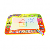 Aqua Drawing Mat;Tefamore Doodle Children Drawing Toys Mat Magic Pen Educational Toy 1 Mat+ 2 Wate