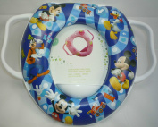 Baby Soft Padded Potty Training Toilet Seat With Handles Micky Mouse.