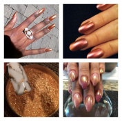 Mermaid Sheer Rub Copper Bronze Effect Dust Powder Nail Art Manicure Pedicure 5ml pot