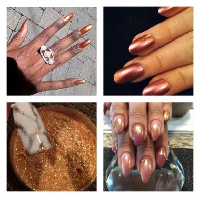 Mermaid Sheer Rub Copper Bronze Effect Dust Powder Nail Art Manicure Pedicure 5ml pot