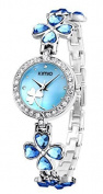 Heart & Flower Bracelet Wrist Watch