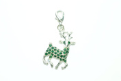 Handmade Beautiful Christmas Reindeer Clip on Charm in Red Gift Bag by Libby's Market Place