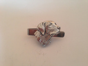 A4 Labrador's Head English Pewter emblem on a Tie Clip 4cm Handmade in sheffield comes with PrideInDetails gift box