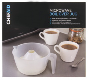 Chef Aid Anti-Boil Over Microwave Jug, White