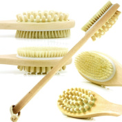 Dual Head Dry Body Brush. A 100% Natural Bristle Bath Body Brush