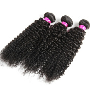 Sexybaby Hair Brazilian Curly Virgin Hair Weave 3 Bundles Unprocessed Human Hair Extensions Natural Colour 300g Total
