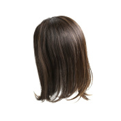 "Monofilament ""Band-Fall"" (half-wig) Womens Human hair Topper-#10cm - 25cm -Wavy Hair Texture"