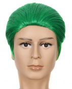 Yuehong Green 30cm Hair Synthetic High Quality Fashion Party Halloween Cosplay Costume Wig