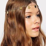 A & c 2016 Bohemia Alloy Coin Headband for Women, Fashion Headpieces for Girls.