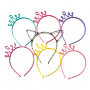 Manc GG Boutique Crown Headbands Headwear Hair Head Bands Hair Accessories Wash Face Hairlace, Makeup Hairband Party Tool for Women and Girls Plastic 7 PCS