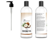 Pursonic 100% Pure Fractionated Coconut Oil, 470ml Oil for Massages, Therapeutic Recipes & Essential Oils