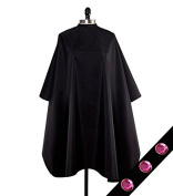 Cover N Style Pink Midnight Black Oversized Unisex Colour Cape 140cm x 150cm