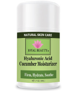 Best Hyaluronic Acid Cucumber Moisturiser by Joyal Beauty. Silky Hydra-Firming Moisturiser with Argan Oil, Squalene, Rosehip Oil, Spirulina. Optimise skin's elasticity. Firm and plump skin instantly.