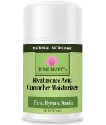 Best Hyaluronic Acid Cucumber Moisturiser by Joyal Beauty. Silky Hydra-Firming Moisturiser with Argan Oil, Squalene, Rosehip Oil, Spirulina. Optimise skin's elasticity. Firm and plump skin instantly.