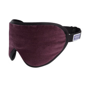 Bond Street Burgundy Sleeping Mask Eye Shade by Masters of Mayfair. Luxurious with Silk and Lavender scents. Handmade in London, England. Helps you sleep better on flights, vacation and at home.