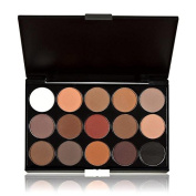 Makeup Brush,Baomabao 15 Colours Women Makeup Neutral Nudes Warm Eyeshadow Palette