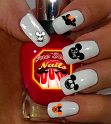 Disney Halloween Set of 57 Clear Waterslide Nail Decals DH-001-57 by One Stop Nails