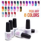 Sexy Mix Soak Off Nail Polish Colour Changing UV LED Gel Pick Any 8 Colours 7ml Nails Art Set