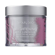 Beauty 360 Brightening Aura Luminosity Sleep Facial Mask, 50ml, Paraben, sulphate & phthalate free.