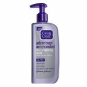 Clean & Clear Advantage Acne Control 3-in-1 Foaming Wash, 240ml - 2pc