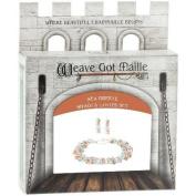 Chainmaile Bracelet & Earrings Jewellery Kit-Sea Breeze/Aqua
