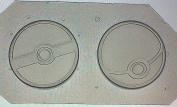 Flexible Plastic Mould Resin Or Chocolate Poke Balls Set of 2