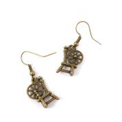 1 Pair Fashion Jewellery Making Charms Earrings Backs Findings Arts Crafts Hooks Bulk Lots Wholesale Supplier U7AA2 Antique Spinning Wheel