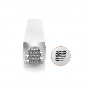 ImpressArt- Dash Zig Zag Texture Metal Stamp, 6mm