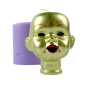 3D Head Portrait Shape Silicone Mould Soap Candle Making Tools Halloween Theme Mould