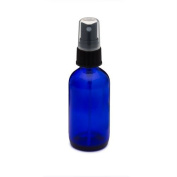 2 Cobalt Blue Glass Bottles 60ml with Spray Misters