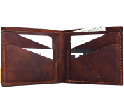 Men Money Vintage Original Genuine Leather Slim Wallet Coin Natural Pocket Purse Au Retro Style.