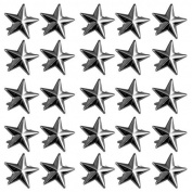 Vikeva 100 15mm Dark Grey Star Studs Spots Punk Rock Nailheads Spikes for Bag Shoes