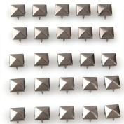 Vikeva 100 X 12mm Pyramid Studs Spots Punk Rock Nailheads Spikes for Bag Shoes Bracelet