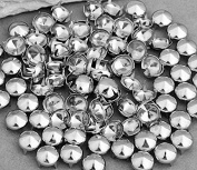 Vikeva 100 Silver Tone 10mm Round Conical Studs Spots Punk Rock Nailheads Spikes
