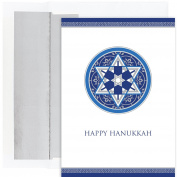 Masterpiece Studios Happy Hanukkah, 18 Cards/18 Foil Lined Envelopes
