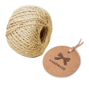 ELYSAID® 100PCS Kraft Paper Gift Tags Handmade Gift Tags with Free 30m Natural Jute Twine Brown