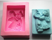Mr.S Shop 3D Angel With Trumpets Silicone Mould Soap Fondant Cake Chocolate Kitchen Baking Tools