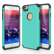 iPhone 6 6S Case, Anwish Scratch-Resistant Hard Cover Shock-Absorption Flexible Soft Rubber Silicone Bumper Hybrid Protection Case for iPhone 6S & iPhone 6