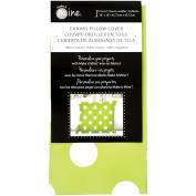 Canvas Pillow Cover 46cm x 46cm 1/Pkg-Lime Dot