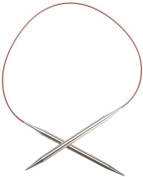"Red Lace Stainless Steel Circular Knitting Needles 24""-Size 9/5.5mm"
