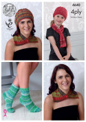 King Cole Ladies & Girls 4 Ply Knitting Pattern for Neck Wrap Hat Scarf & Socks